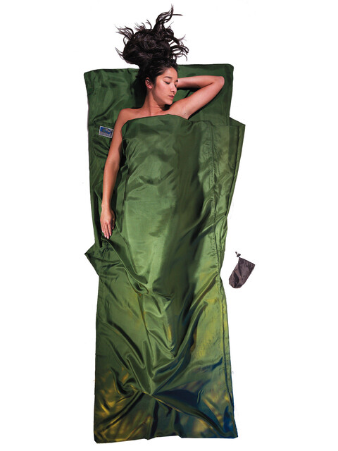 Cocoon TravelSheet Silk Dark Olive Green
